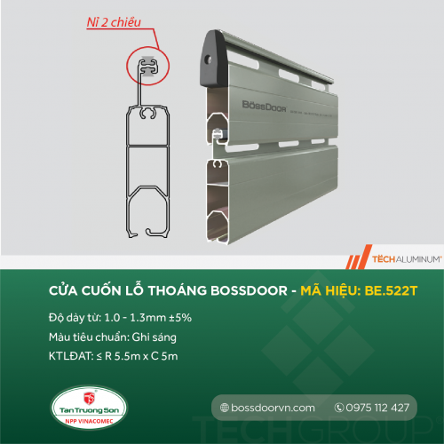 nan cua bossdoor be522t